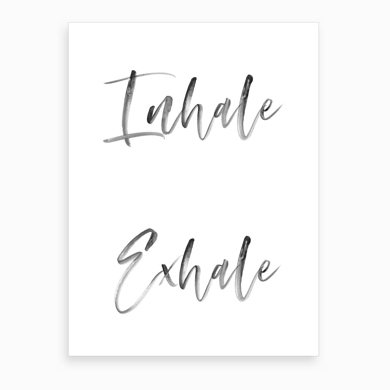 Inhale Exhale VII Art Print