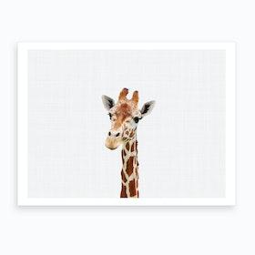Giraffe X Art Print