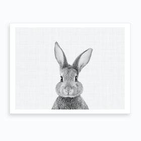 Rabbit BW I Art Print