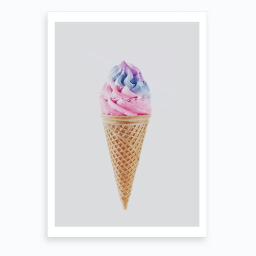 Ice-Cream X Art Print
