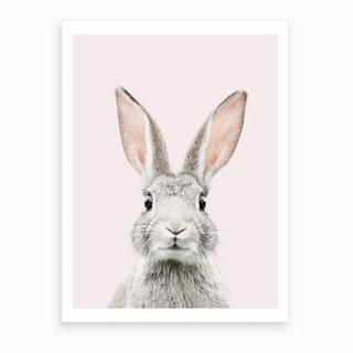 Bunny Face Blush Art Print
