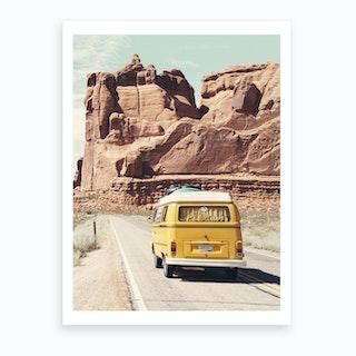 Road Trip Art Print