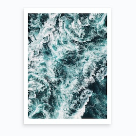 Rough Sea Art Print