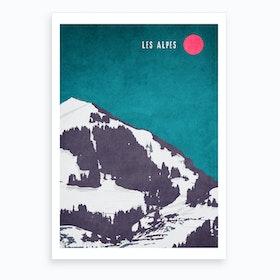 Les Alpes Art Print