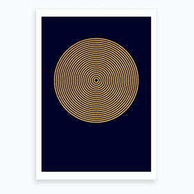 Parallel Gold Circle Art Print