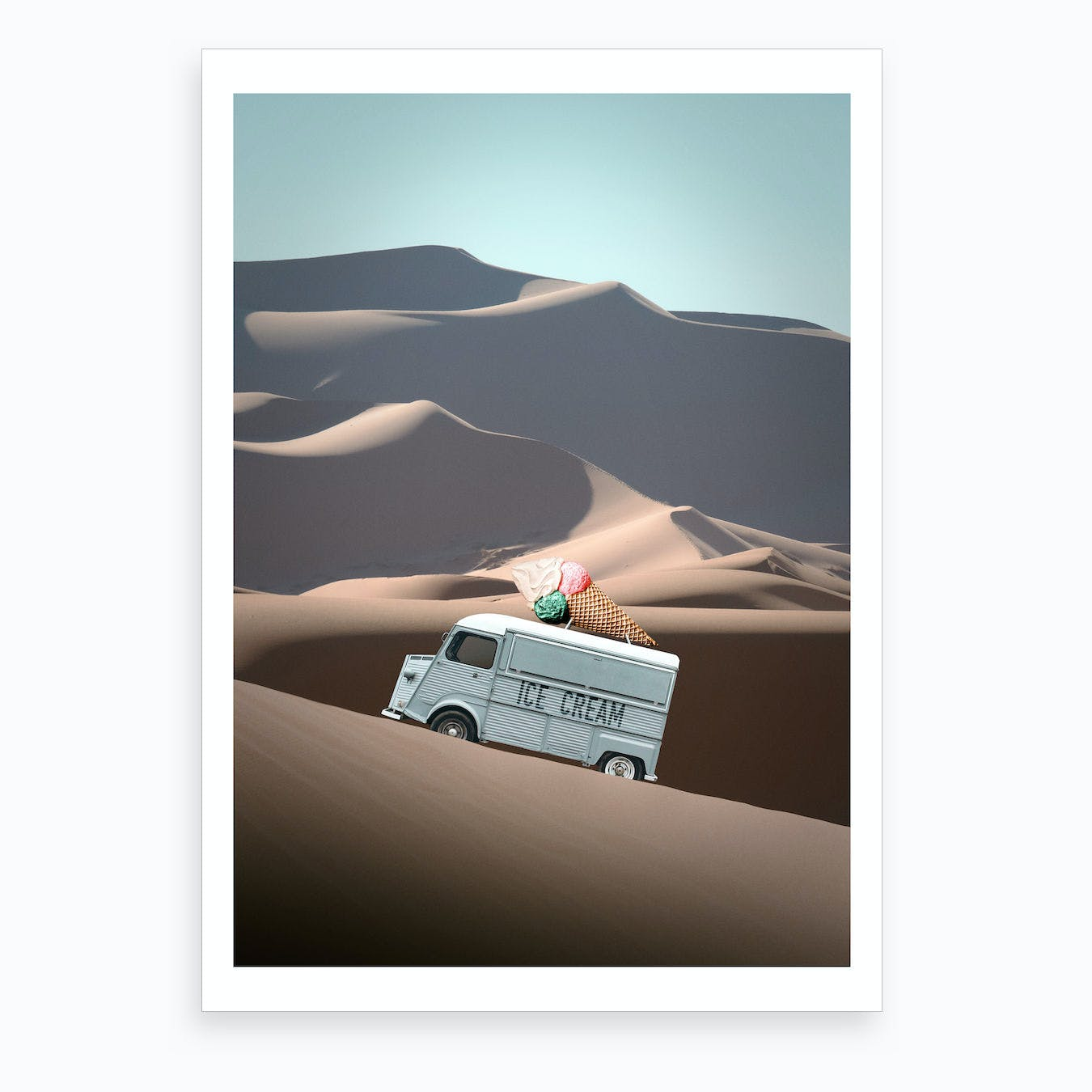 Ice Cream Van Art Print