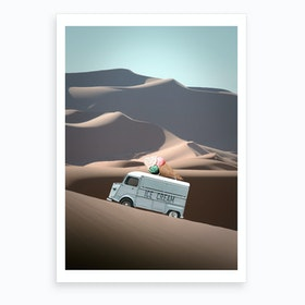 Ice Cream Van Art Print