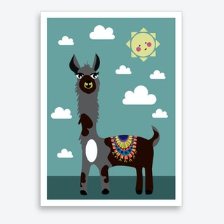 Kids Alpaca IIII Art Print