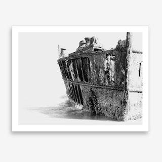 Shipwreck Fraser Island Art Print