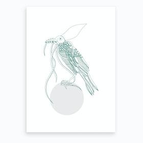 Marine Circle & Bird Art Print