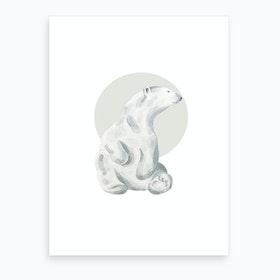 Watercolour Polo Bear Art Print