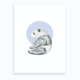 Watercolour Panda Art Print