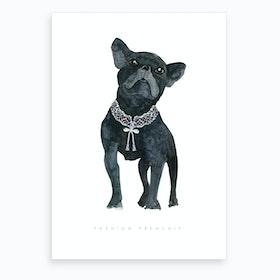 Fashion Frenchie Art Print