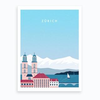 Zürich Art Print