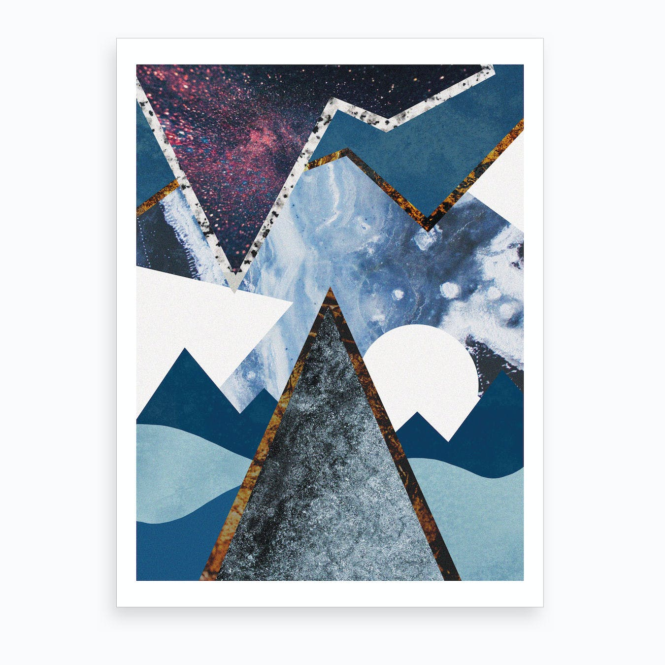 Abstract Alpine II Art Print