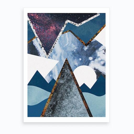 Abstract Alpine II Art Print