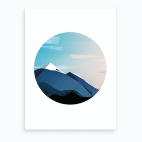 Abstract Alpine IV Art Print