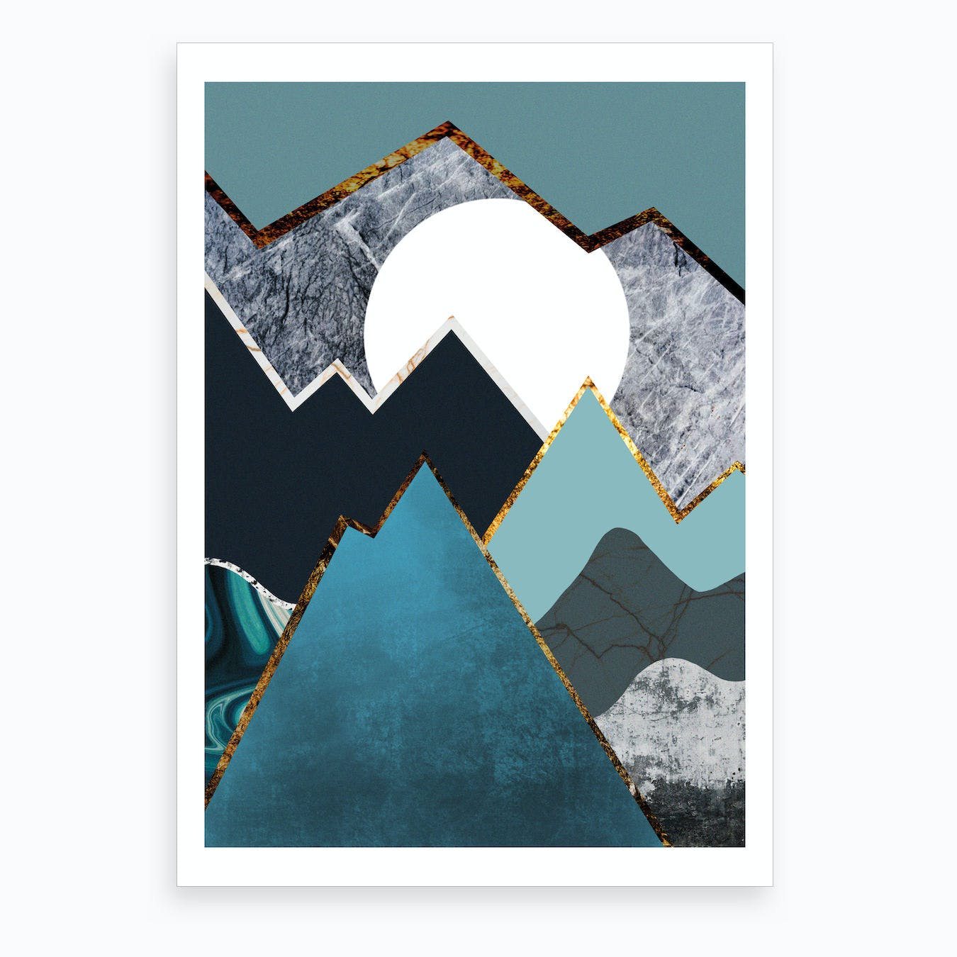 Abstract Alpine III Art Print