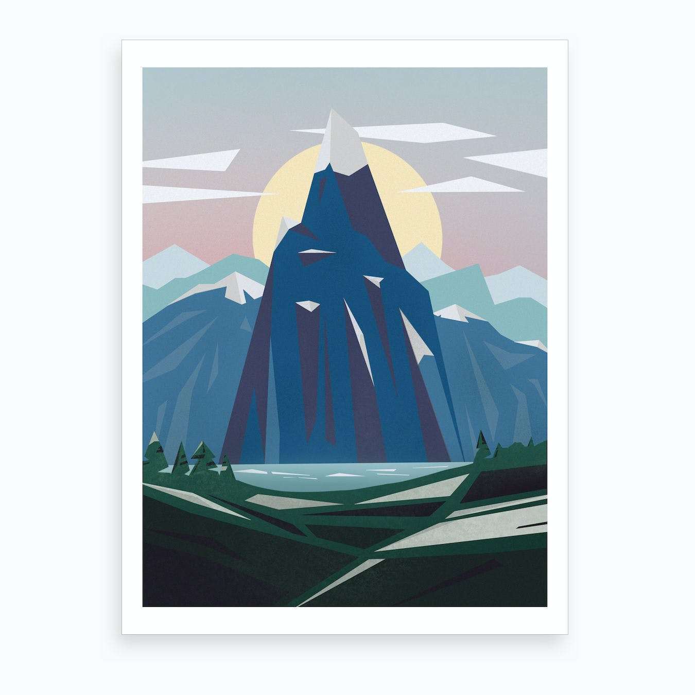 Abstract Alpine V Art Print