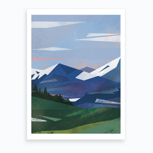 Abstract Alpine VI Art Print