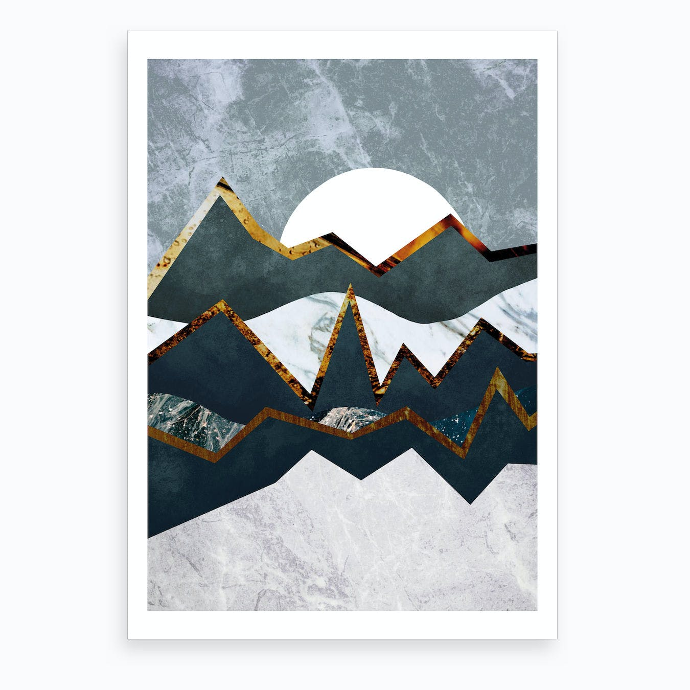 Abstract Alpine Illustration Art Print