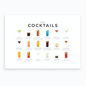 Vodka Cocktails Landscape Art Print