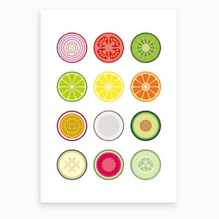 Fruit and Vegetables Art Print