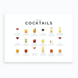 Whiskey Cocktails Landscape Art Print