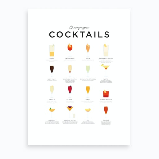 Champagne Cocktails Art Print