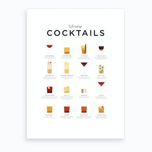 Whiskey Cocktails Art Print