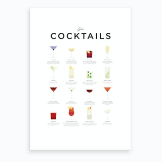 Gin Cocktails Art Print