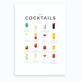 Rum Cocktails Art Print
