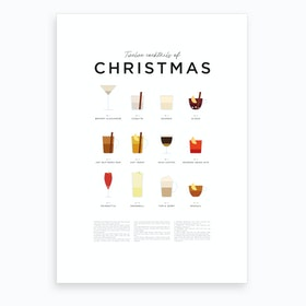 Christmas Cocktails Art Print