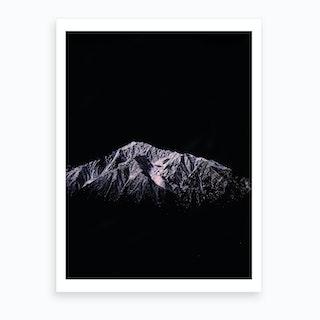 Mountain Peaks X Art Print