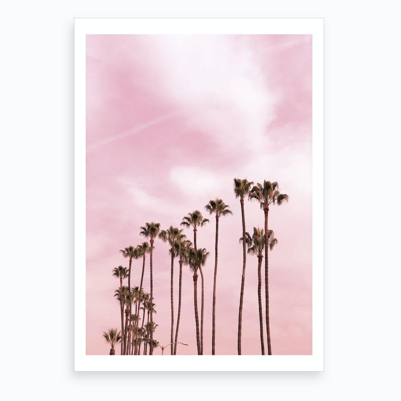 Pink Palm Trees X Art Print