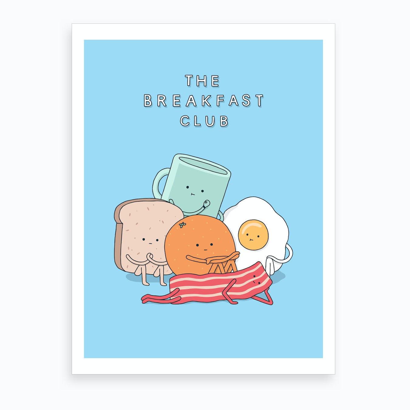 Breakfast Club Art Print