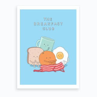 Breakfast Club Art Print