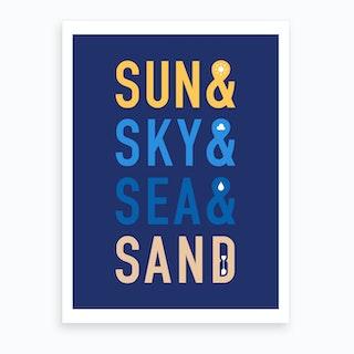 Fun in The Sun Art Print