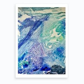 Water Scarab Fossil Under the Ocean, Environmental Art Print