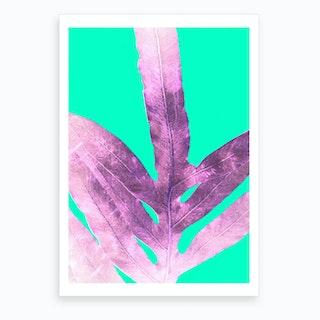 Cool Winter Fern Art Print