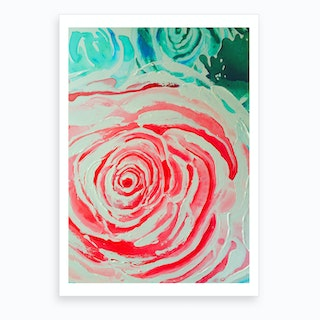 Roses are Pink Pink Art Print