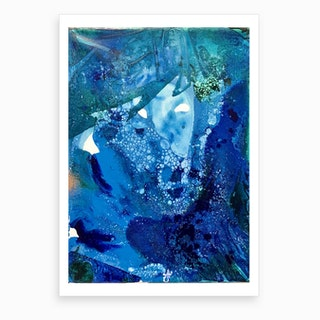Environmental Blue Leaves, Tiny World Collection Art Print