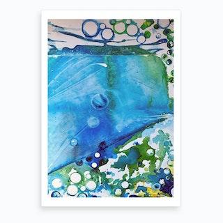 Ice Caps, Ice Bubbles Art Print