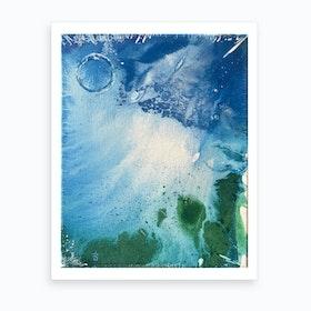 Environmental Blue and Green Painting # 7 Art Print