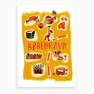 Welcome Copenhagen Art Print