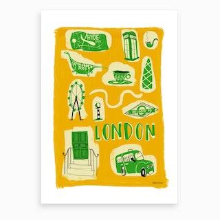 Welcome London Art Print