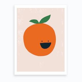 Orange Kitchen Art Print