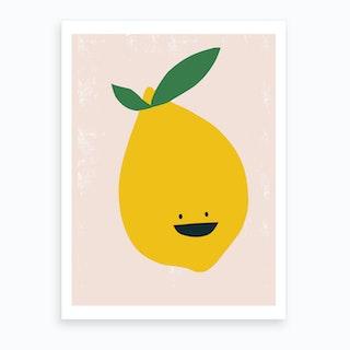 Lemon Kitchen Art Print