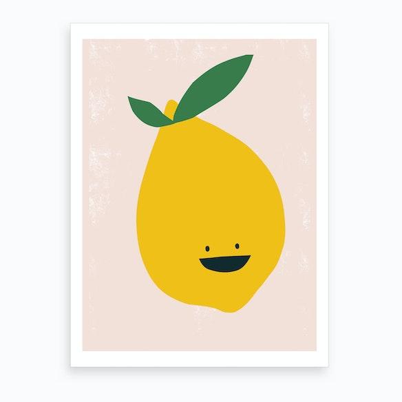 Lemon Kitchen Art Print By Sira Lobo