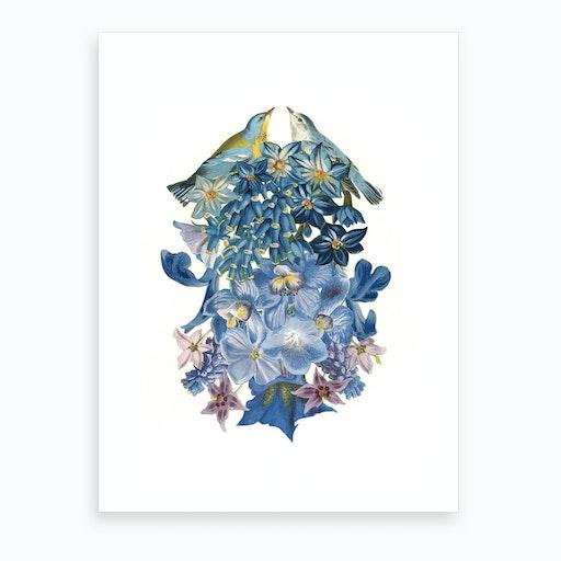 Summer Lovebirds Art Print
